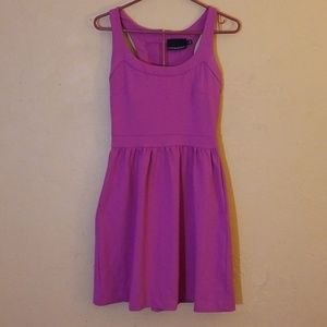 Cynthia Rowley purple pink dress with pockets